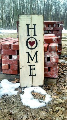 Home is Where the Heart Is Reclaimed Barn Wood by Home is a Sanctuary