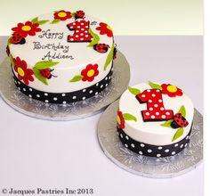 Lady bug cake - 1st birthday