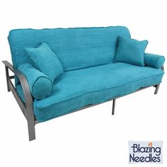 this futon set features a beautiful metal frame and a soft microsuede cover and pillows available     free shipping  buy blazing needles premium twill 3 piece futon      rh   pinterest