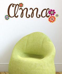 Take a look at this Anna Flowers Personalized Reusable Wall Decal by LolliPOP Walls on #zulily today! $24 !!