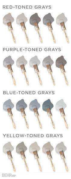 grey tones, shades of grey, interior decorating, grey paint, grey interior, grey decorating