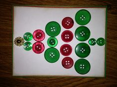 My take on a 'button Christmas tree design I've seen done many ways.
