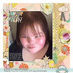 Fiddle Dee Dee Designs - Fuss Free: Keep Moving Forward Vera Lim Designs - Up Up and Away Scrapbook Basic - Choose Happy Brushes and stuff