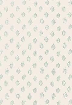 Wallcovering / Wallpaper | Bakara Leaf in Water Blue | Schumacher