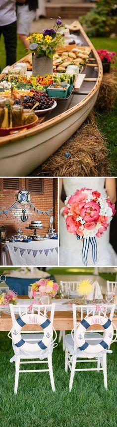 Bodas en la playa: ideas e inspiració Nautical Party, Nautical Wedding, Chic Wedding, Our Wedding, Vintage Nautical, Lakeside Wedding, Ideas Para Fiestas, Wedding Wishes, Wedding Designs