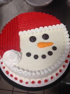 Snowman ice cream DQ cake