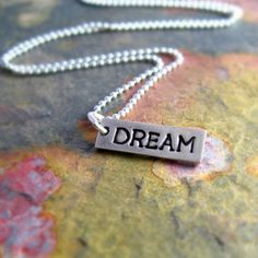 Dream Necklace Silver Dream Necklace by newhopebeading on Etsy, $35.00