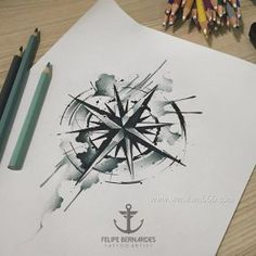 Black and White Compass Tattoo Manuscript - Black and White Compass Tattoo . - Black and White Compass Tattoo Manuscript – Black and White Compass Tattoo Manuscript – - Wolf Tattoos, Nature Tattoos, Finger Tattoos, Compass Art, Compass Tattoo Design, Diy Tattoo, Tattoo Blog, Manos Tattoo, Small Back Tattoos