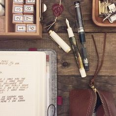 Fave /. Newly inked fountain pen + my Roterfaden are my fave ... ❦✑ Let's write the night away /.