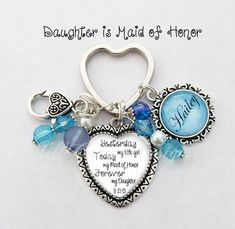 """Mother of the Bride gift - from Daughter of the Bride - """"The love between a Mother and Daughter is forever"""" - personalized keychain by NowThatsPersonal on Etsy The Wedding Date, Gifts For Wedding Party, Party Gifts, Wedding Ideas, Wedding Stuff, Wedding Planning, Geek Wedding, Wedding 2017, Rose Wedding"""