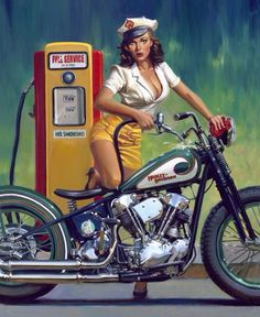 Harley Davidson filling up?