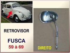 retrovisor volkswagen fusca 1200 1300 1959 à 1969 direito