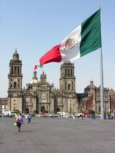 Zócalo is a central town square or plaza, located in Mexican City, Districto Federal_ Mexico