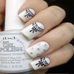 41 Wedding Nail Art Designs for Brides  #nailart2015 #weddingnails #bridenails2015