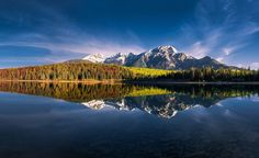 The mountains of Canada's Jasper National Park reflect in a perfectly calm Patricia Lake in this National Geographic Your Shot Photo of the Day. Amazing Photography, Landscape Photography, Travel Photography, National Geographic Photo Contest, Reflection Photos, Shot Photo, Take Better Photos, Cool Landscapes, Belle Photo