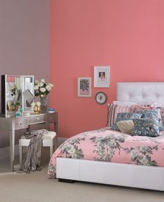 Features Pin Up Pink And Rockin Around From The Crown Paints Vintage Range