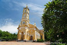 Yellow church by Rattanapatphoto, via Dreamstime