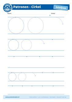 Cirkel [4] - Dit werkblad biedt het schrijfpatroon van een cirkel aan. Veel letters bestaan uit een cirkelvorm. Het is goed om deze vorm vaak te oefenen. Je kunt het blad ook vaker printen, zodat je extra veel kan oefenen! Download ook de andere oefenbladen en maak een boekje van al je schrijfpatronen! Tip: pak verschillende kleuren potloden en ga met alle kleuren meerdere keren over het schrijfpatroon.
