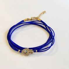 A personal favorite from my Etsy shop https://www.etsy.com/listing/526420123/multi-strand-evil-eye-bracelet-blue-evil
