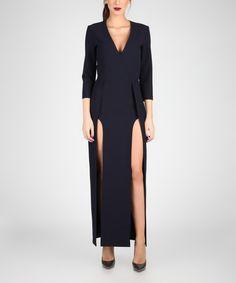 Another great find on #zulily! Dark Blue Side-Slit Maxi Dress #zulilyfinds