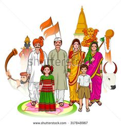 stock-vector-vector-design-of-maharashtrian-family-showing-culture-of-maharashtra-india-317848967.jpg (450×470)