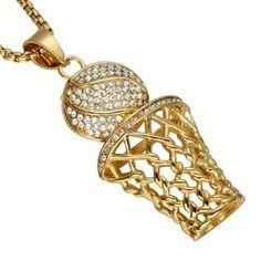 a37500b59d Necklace Basketball Pendant Rhinestone Unisex #Unbranded #Pendant Necklace  Types, Men Necklace, Fashion