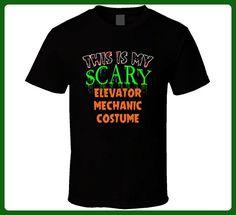 This is My Scary Elevator Mechanic Halloween Costume Custom Job T Shirt 2XL Black - Careers professions shirts (*Amazon Partner-Link)