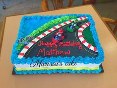 Mario kart birthday cake  Visit us Facebook.com/marissa'scake or www. Marissa'scake.com