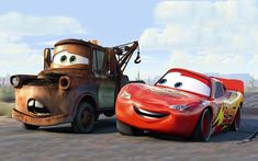 Cars Mater And Lightning Mc Queen Cars Pixar Disney Cars Disney Pixar Cars, Disney Cars Party, Walt Disney, Car Party, Disney Disney, Pixar Movies, Disney Movies, Pixar Characters, Mc Queen Cars