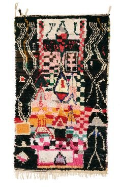 Image of Curator's Collection - Boucherouite Rag Rug - Village