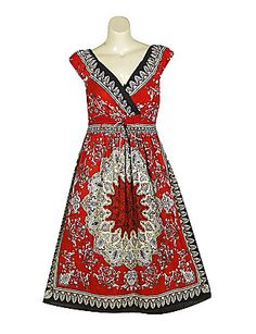 Red Russian Dress   Sonsi by Mlle Gabrielle - also $44.00 - 100% cotton - 47 inches long