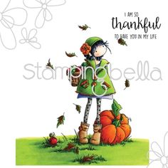 Tiny Townie Fay Loves Fall Cling Mounted Rubber Stamp from Stamping Bella