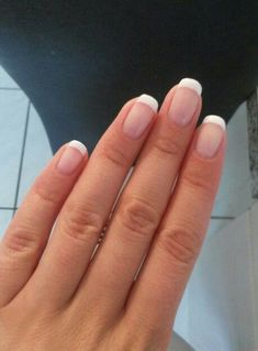 faded french nails Design #classicfrenchnails