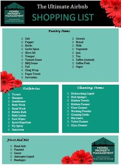 The best shopping checklist to help you get started on your Airbnb Journey, and set up your Investment Property for Airbnb Success! Plus a free printable version for you to use!