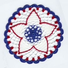 free crochet pattern doily independence day 4th of july