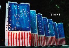 patriotic luminaria