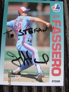 1992 Fleer #477 Jeff Fassero (TTM) Personalized to me