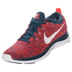 c8318a3e1abaf Men Nike Flyknit Lunar 1 Running shoes Squadron Blue Bright Crimson 554887  461