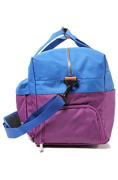 The HERSCHEL SUPPLY Walton Duffle Bag in Purple & Cobalt: Karmaloop
