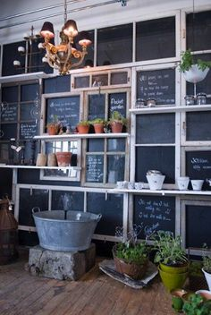 Small roundup of fun ideas for repurposing old windows to use in your home.