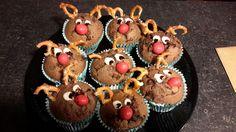 """Reindeers"" chocolate muffins"