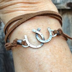 Double Horseshoe wrap bracelet   Cowgirl jewelry by JoLovesJewelry, $36.00