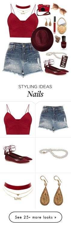 """""""Festival vibes"""" by georgia-grace-sheldon on Polyvore featuring River Island, Loeffler Randall, Ray-Ban, Too Faced Cosmetics, Deborah Lippmann, Redopin, Urbiana, Dolce&Gabbana, Charlotte Russe and Forever 21"""