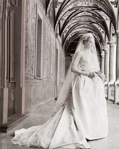 """""""The Wedding of the Century"""" in Monaco on April 19, 1956 — Reportage by Howell Conant."""