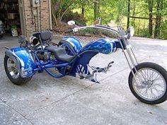 Custom VW Trike by George Beeler 3 Wheel Motorcycle, Moto Bike, Motorcycle Gear, Motorcycle Design, Custom Trikes, Custom Motorcycles, Trike Motorcycles, Choppers, Hot Rods
