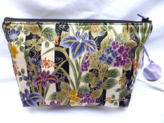 Gorgeous Makeup or Travel Bag in an Iris print by cairngormbags, £10.00