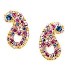 (via Rainbow Crystal Paisley Stud Earrings Talullah Tu of … | Paisley P…)