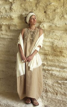 Now this is my style. Simple, comfortable, long, linen.....love it!