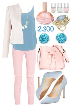 """Over 2300 Members In The Group: Pretty Pastels"" by deedee-pekarik ❤ liked on Polyvore featuring Current/Elliott, Schutz, BA&SH, Kim Rogers, Precis Petite, 3.1 Phillip Lim, Calvin Klein, Nails Inc. and INC International Concepts"