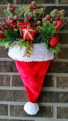 b54be4e251d55 Mi Fiesta Creativa  Gorros de Santa Claus para decorar la puerta Muñeco De  Nieve De